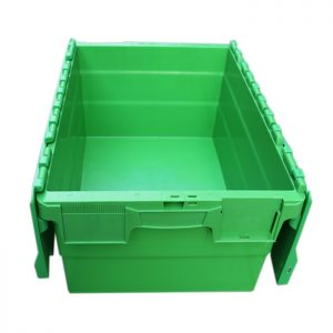 black plastic storage totes