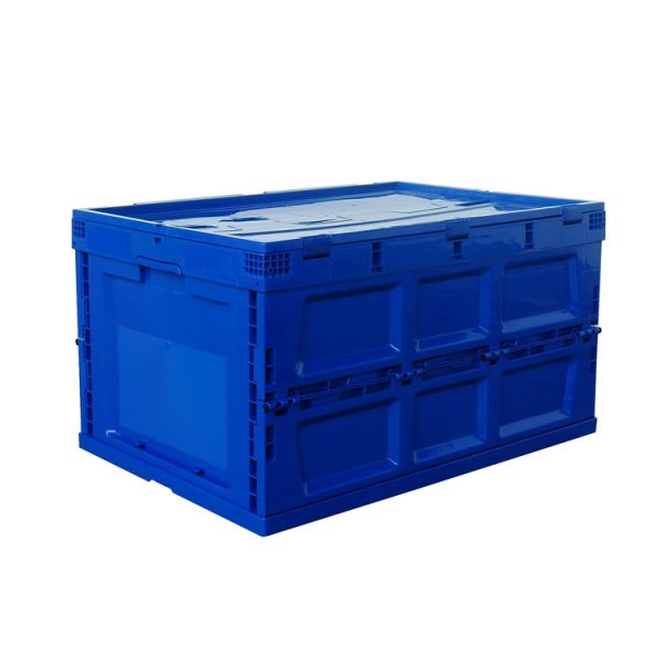collapsible plastic container with lid