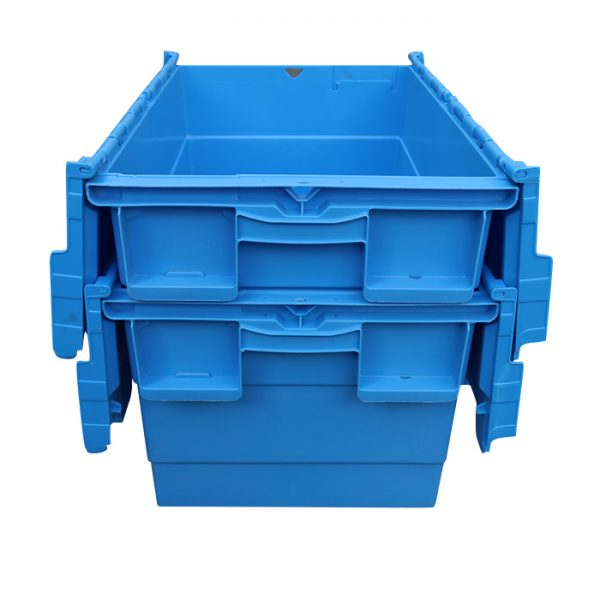 small plastic boxes with hinged lids